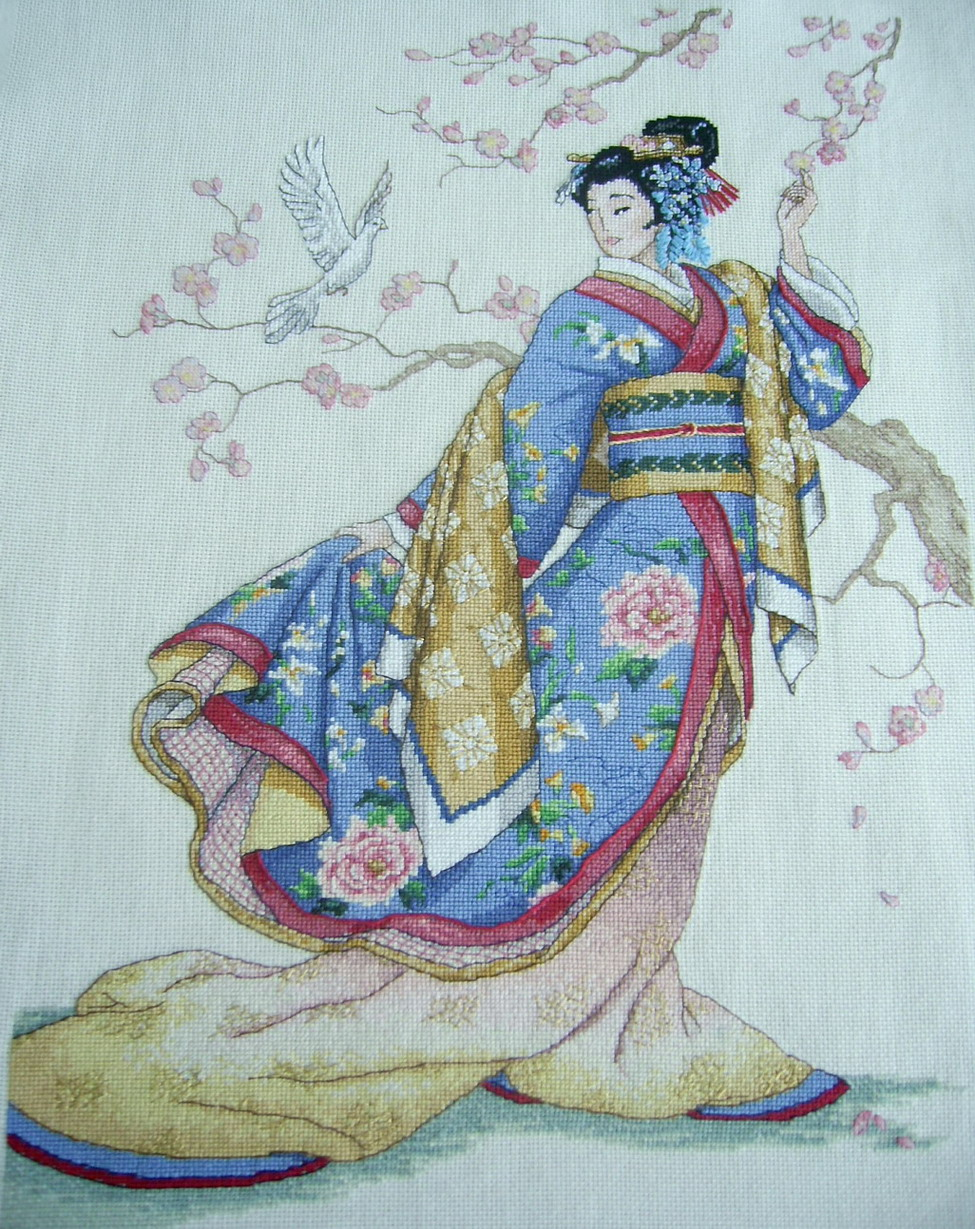 Набор для вышивки японки