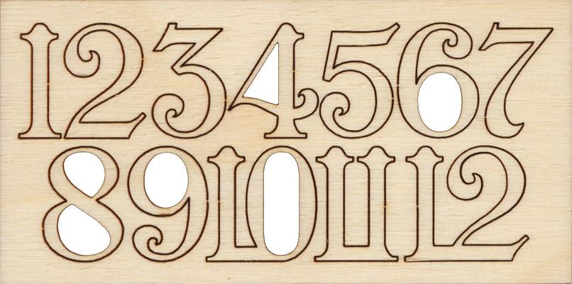 Красивые цифры для часов своими руками 525