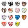 "Бусины пластиковые сердце пакет 10 шт. (""Zlatka"" PPB-02) 18мм х 17мм пластик"