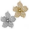 "Филигранный элемент цветок 1 шт. (""Zlatka"" FDP-005) 4см х 3.6см х 0.2мм металл"