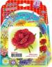 """Набор для бисероплетения Цветок из бисера """"Алая роза"""" блистер 1 шт. (""""клеvер"""" 05-602) 4.5см х 4.5см"""