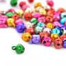 Бубенчик цветной блестящий 1 шт. (Magic 4 Toys) 8мм металл