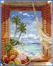 """Набор для вышивки """"Вид из окна на море"""" 1 шт. (""""Janlynn"""" 023-0382) 28см х 35.5см"""
