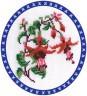 """Набор для вышивки """"Красные колокольчики"""" 1 шт. (""""Panna"""" Ц-0068) 17см х 22см"""