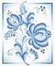 """Набор для вышивки """"Синие розы"""" 1 шт. (""""Panna"""" Ц-0254) 18см х 23см"""