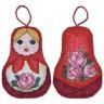 """Набор для вышивки """"Игрушка-Матрешка"""" игрушка 1 шт. (""""Panna"""" ИГ-1186) 7см х 10см"""