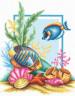 """Набор для вышивки """"Пестрые рыбки"""" 1 шт. (""""Panna"""" Р-0161) 25см х 30.5см"""