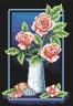 """Набор для вышивки """"Элегантные розы"""" 1 шт. (""""Panna"""" Ц-0187) 21.5см х 32.5см"""