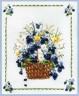 """Набор для вышивки """"Корзина с фиалками"""" 1 шт. (""""Panna"""" Ц-0661) 23см х 26см"""