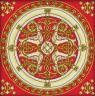 """Набор для вышивки """"Славянское золото"""" подушка 1 шт. (""""Panna"""" ПД-0458) 36см х 36см"""