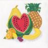"""Набор для вышивки """"Экзотические фрукты"""" 1 шт. (""""Panna"""" Н-1078) 25см х 25см"""