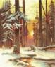 """Набор для вышивки """"Закат в снежном лесу"""" 1 шт. (""""Panna"""" ВХ-1076) 23см х 31см"""