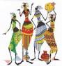 """Набор для вышивки """"Африканочки-подружки"""" 1 шт. (""""Panna"""" НМ-0739) 38см х 43см"""