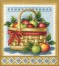 """Набор для вышивки """"Корзинка с яблоками"""" 1 шт. (""""Panna"""" Н-1151) 21.5см х 23см"""
