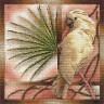 """Набор для вышивки """"Белый попугай"""" 1 шт. (""""Panna"""" ПТ-0693) 25см х 25см"""