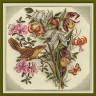 """Набор для вышивки """"Букет цветов с птицей"""" 1 шт. (""""Panna"""" ВХ-0797) 32см х 33см"""