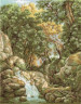 """Набор для вышивки """"Водопад в лесу"""" 1 шт. (""""Panna"""" ВХ-1097) 26.5см х 36см"""