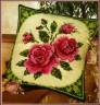 """Набор для вышивки """"Розы"""" (подушка) 1 шт. (""""Vervaco"""" 1200/212) 40см х 40см"""