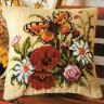"""Набор для вышивки """"Полевые цветы"""" (подушка) 1 шт. (""""Vervaco"""" 1200/496) 40см х 40см"""