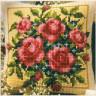 """Набор для вышивки """"Садовые розы"""" (подушка) 1 шт. (""""Vervaco"""" 1200/692) 40см х 40см"""