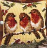 "Набор для вышивки ""Птичье трио"" (подушка) 1 шт. (""Vervaco"" 1200/913) 40см х 40см"