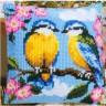 "Набор для вышивки ""Птички"" (подушка) 1 шт. (""Vervaco"" 1200/940) 40см х 40см"