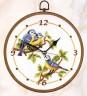 """Набор для вышивки """"Синички"""" (часы) 1 шт. (""""Vervaco"""" 2012/PN-0012686) 20см х 20см"""