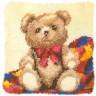 """Набор для вышивки """"Плюшевый мишка"""" (подушка) 1 шт. (""""Vervaco"""" 2560/3511) 40см х 40см"""