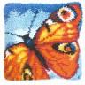 "Набор для вышивки ""Бабочка"" (подушка) 1 шт. (""Vervaco"" 2560/3608) 40см х 40см"