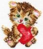 """Набор для вышивки """"Любимая киска"""" 1 шт. (""""Алиса"""" 0-61) 10см х 11см"""
