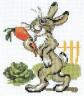 """Набор для вышивки """"Зайка с морковкой"""" 1 шт. (""""Кларт"""" 6-068) 13см х 11см"""
