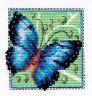 """Набор для вышивки """"Бабочка синяя"""" 1 шт. (""""Кларт"""" 1-032) 9.5см х 9.5см"""