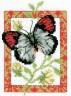 """Набор для вышивки """"Бабочка серая"""" 1 шт. (""""Кларт"""" 5-054) 14см х 10см"""