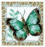 """Набор для вышивки """"Бабочка салатная"""" 1 шт. (""""Кларт"""" 5-056) 10см х 10см"""