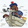 """Набор для вышивки """"Пес морячок"""" 1 шт. (""""Кларт"""" 6-069) 14см х 13см"""
