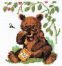 """Набор для вышивки """"Мишка и мед"""" 1 шт. (""""Кларт"""" 6-072) 12см х 11см"""