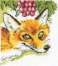 """Набор для вышивки """"Лиса и виноград"""" 1 шт. (""""Кларт"""" 4-050) 15см х 13см"""