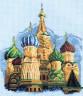 """Набор для вышивки """"Собор Василия Блаженного"""" 1 шт. (""""Кларт"""" 7-096) 22см х 18см"""