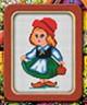 "Набор для вышивки ""Красная шапочка"" 1 шт. (""Lutars"" №034) 11см х 17см"