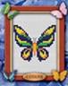 "Набор для вышивки ""Бабочка"" 1 шт. (""Lutars"" №054) 7см х 8см"