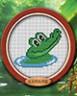 """Набор для вышивки """"Крокодильчик"""" 1 шт. (""""Lutars"""" №060) 10см х 8см"""