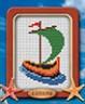 """Набор для вышивки """"Лодка под парусом"""" 1 шт. (""""Lutars"""" №061) 8см х 10см"""