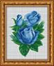 """Набор для вышивки """"Голубые розы"""" 1 шт. (""""Lutars"""" №127) 15см х 19см"""
