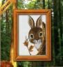 """Набор для вышивки """"Крольчонок"""" 1 шт. (""""Lutars"""" №169) 13см х 20см"""