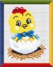 """Набор для вышивки """"Цыпленок в скорлупе"""" 1 шт. (""""М.П.Студия"""" нв 017) 14см х 17см"""
