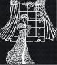 """Набор для вышивки """"Дама у окна"""" белое на черном 1 шт. (""""М.П.Студия"""" нв 132) 34см х 38см"""