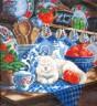"""Набор для вышивки """"Кошка в посудной лавке"""" 1 шт. (""""РС студия"""" 468) 26см х 26см"""