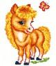 """Набор для вышивки """"Веселая лошадка"""" 1 шт. (""""Чудесная Игла"""" 18-02) 13.5см х 17.5см"""