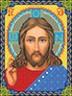 """Канва с рисунком """"Христос Спаситель"""" для вышивания бисером формат А4 1 шт. (БИС 9001) 21см х 29.7см"""