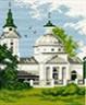 """Канва с рисунком """"Церковь"""" 1 шт. (481) 16см х 20см"""
